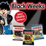 Haribo Lakritz gratis testen (Lakritz Schnecken, Vampire oder Salz Brezeln)