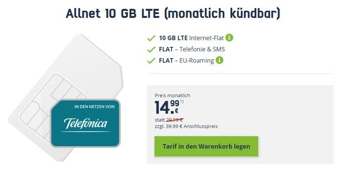 Telefonica Allnet 10 GB LTE