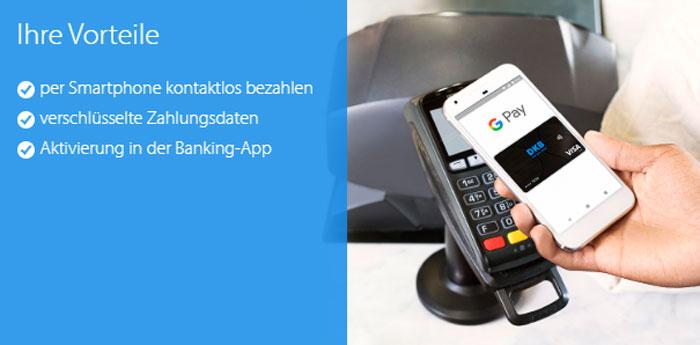DKB Kreditkarte mit Google Pay und Apple Pay