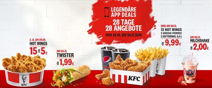 KFC Legendäre App Deals