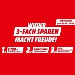 Media Markt 3er Sparket Aktion: 100€ Sofortrabatt + Gratis-Lieferung für Haushaltsgeräte