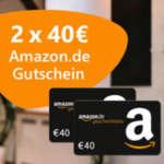 2x 40€ Amazon Gutschein für Strom- und Gas-Wechsel über Verivox