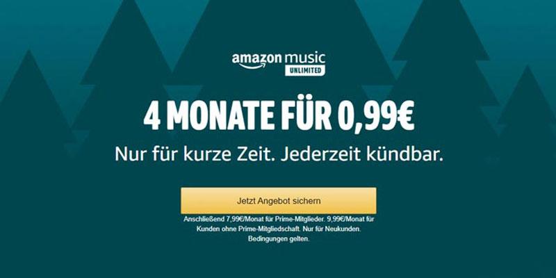 Amazon Music Unlimited Neukunden Angebot