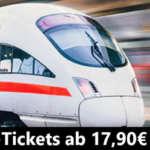 Deutsche Bahn Sparpreis Aktion: Tickets ab 12,90€ bzw. 17,90€