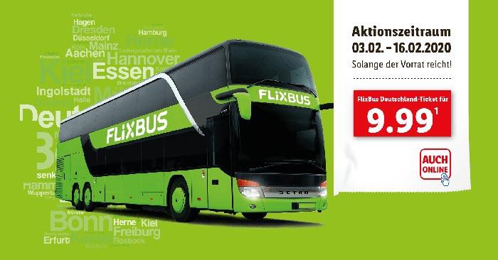 LIDL FlixBus Ticket