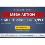 PremiumSIM Mega-Aktion: 1 GB LTE + Allnet-Flat für 3,99€ pro Monat