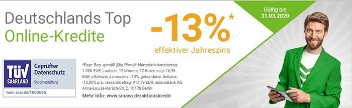 Kredit mit negativem Zinssatz