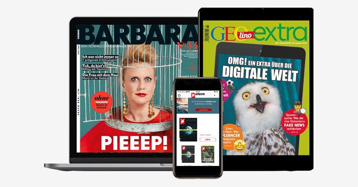 Kostenlose Zeitschriften Gruner + Jahr