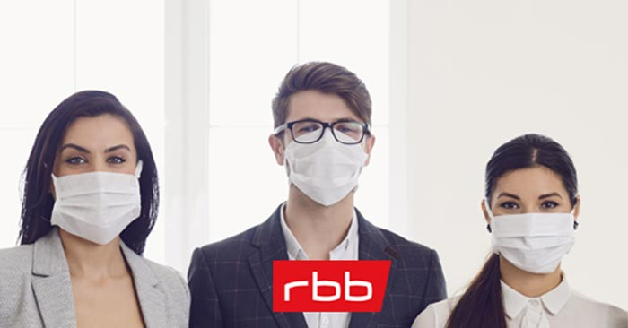 Kostenlose Mundschutz-Maske beim rbb bestellen