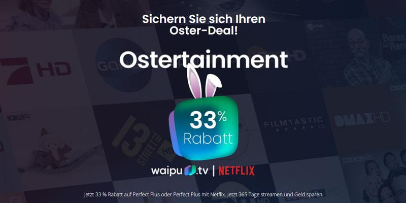 waipu.tv Osterangebot