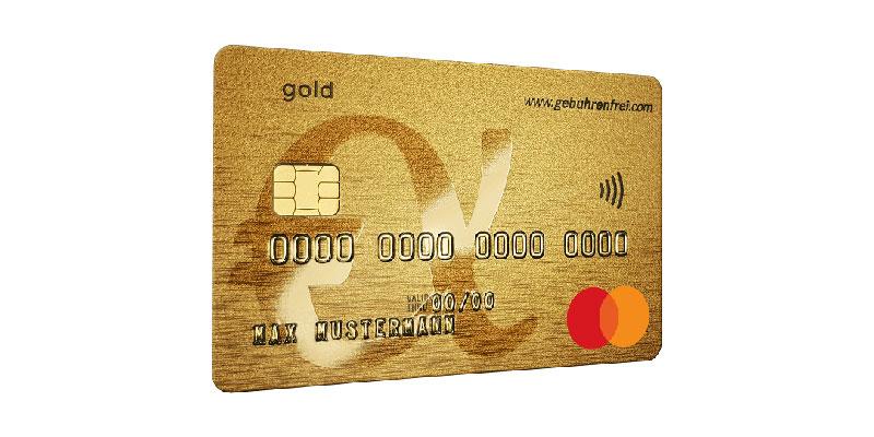Gebührenfrei Mastercard Gold + Startguthaben