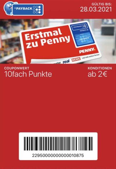 10-fach Penny eCoupon Payback