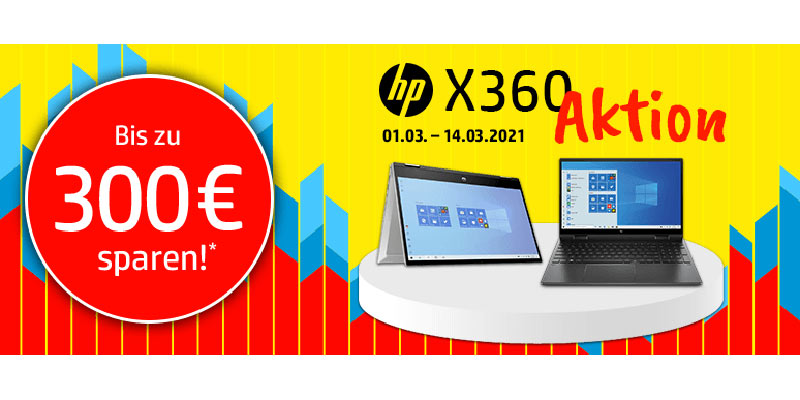 HP x360 Aktion