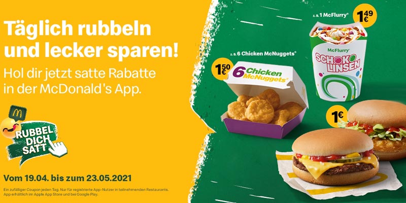 McDonald's Rubbel Dich Satt Aktion