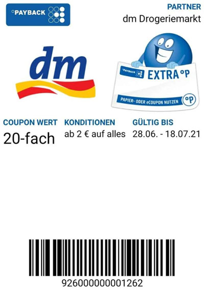Payback dm Coupons