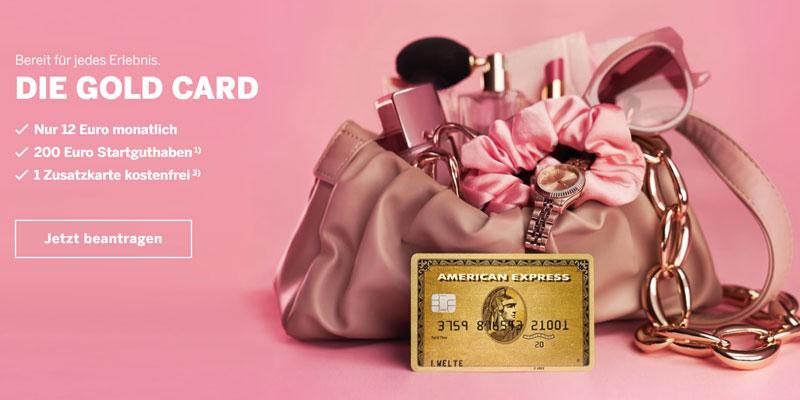 American Express Gold + Startguthaben