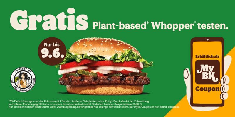 Gratis Plant-based Whopper