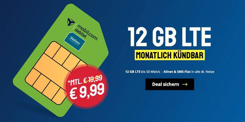 mobilcom-debitel Telefonica Allnet 12 GB Tarif