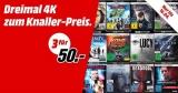 3x 4K Blu-rays (Ultra HD Qualität) für 50€ bei Media Markt
