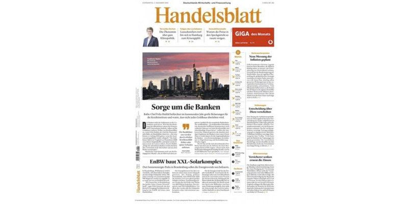 Handelsblatt Abo (3 Monate) für 221€ + 195€ BestChoice Gutschein als Prämie