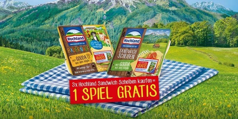 Hochland Sandwich Scheiben Aktion: Gratis Ravensburger Gesellschaftsspiel