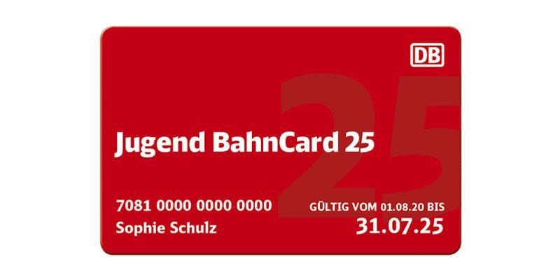 Jugend BahnCard 25 für einmalig 8,80€ (6-18 Jahre)