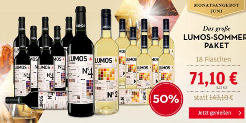 Lumos No 2 Blanco & Lumos No 4 Tempranillo Weinpaket (18 Flaschen) für 68,97€