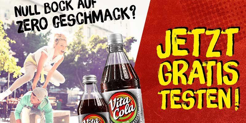 Vita Cola Pur Zuckerfrei gratis testen – Cashback Aktion