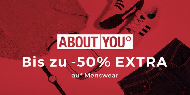 50% Extra-Rabatt auf About You Menswear