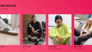 Adidas Cyber Woche – bis zu 50% Rabatt auf ausgewählte Ware + 20% Gutschein