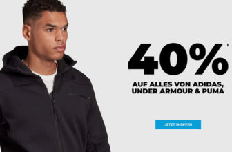 mysportswear Aktion: 40% Rabatt auf alles von adidas, Puma & Under Armour