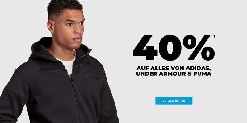 mysportswear Aktion: 40% Rabatt auf alles von adidas, Puma & Under Armour