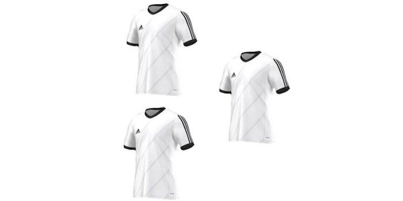3x Adidas Tabela 14 Trikot (weiß/schwarz) für 19,95€