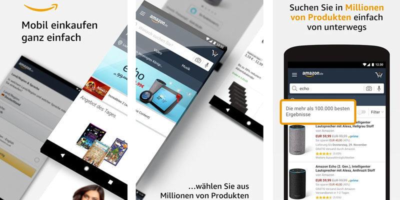 10€ Amazon App Gutschein ab 30€ Bestellwert für App Neukunden