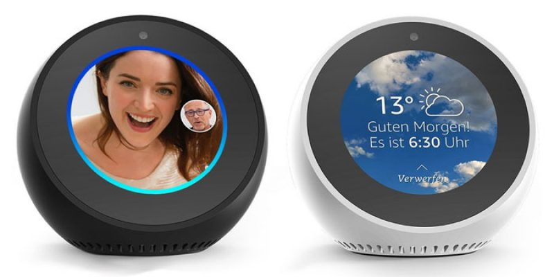 Amazon Echo Spot (Alexa Sprachassistent mit Display & Kamera) für 99,98€