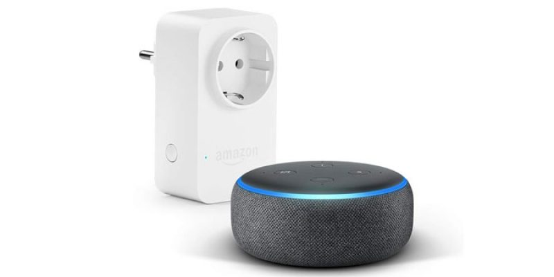 Amazon Smart Home Bundle: Echo Dot + Amazon Smart Plug Steckdose für 29,49€