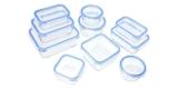 10x AmazonBasics Vorratsdosen aus Glas + Kunststoffdeckel für 16,34€