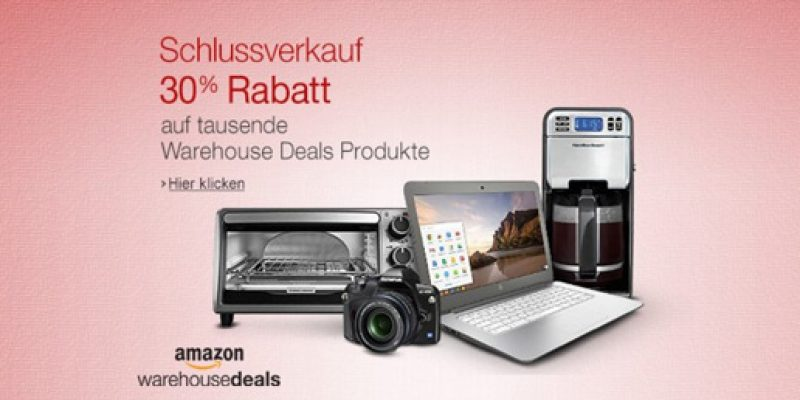 Amazon Warehouse Deals Schlussverkauf: 30% Rabatt auf über 60.000 Artikel