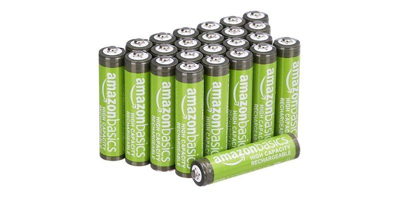 24x AmazonBasics AAA Akkus 800 mAh (wiederaufladbar) für 16,99€