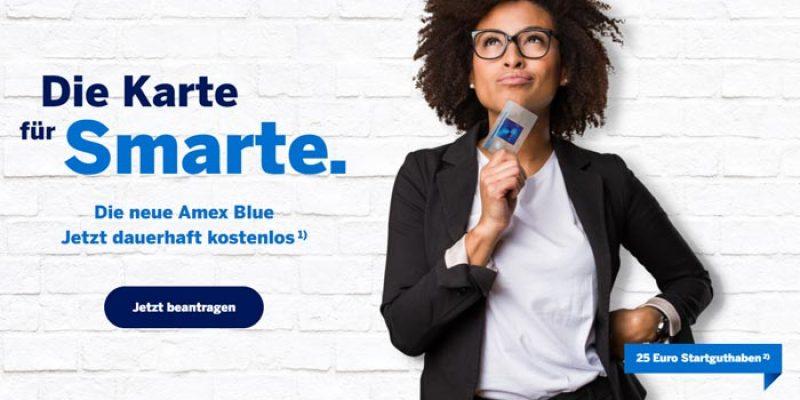 American Express Blue Card + 35€ Startguthaben (dauerhaft kostenlos)