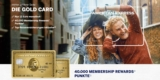 American Express Gold Kreditkarte + 40.000 Membership Rewards (z.B. 200€ Amazon Gutschein) + Reiseversicherung