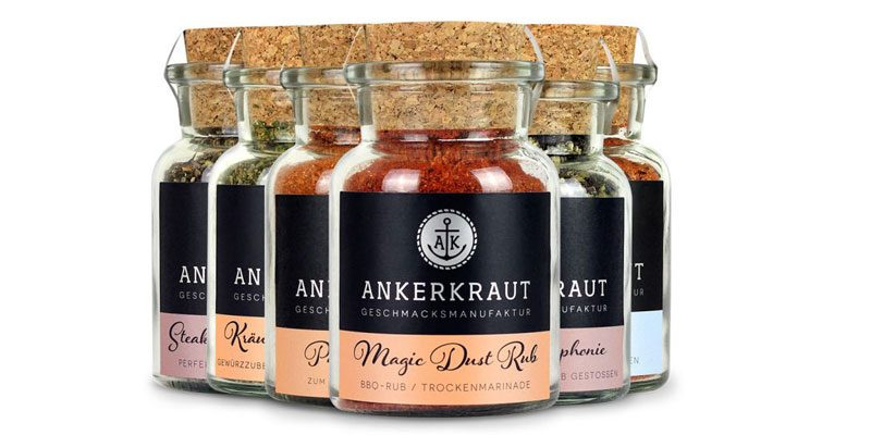 4x Ankerkraut Gewürze im Korkenglas ab 11,54€ (2,89€ pro Glas) – z.B. Steakpfeffer oder Rührei Gewürz