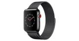 Apple Watch Series 3 LTE 42mm Edelstahlgehäuse Space Milanaise Schwarz für 389€