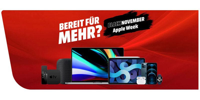 Media Markt Black November Apple Week – iPhones, iPads, Mac, u. v. m.