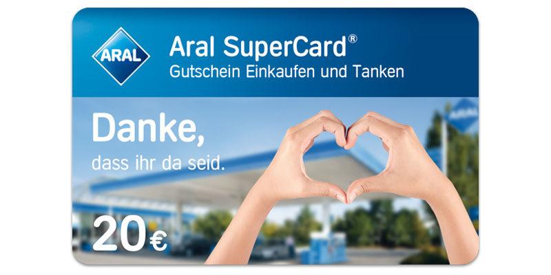Aral Supercard Aktion: 20€ Aral Gutschein für alle Post- & Paketzusteller