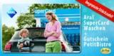 """2x """"ARAL SuperCard Waschen"""" + 2x Gutscheine für das PetitBistro für 27,99€"""