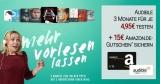 Audible Aktion: 3 Hörbücher für je 4,95€ + 15€ Amazon Gutschein