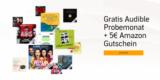 1x kostenloses Audible Hörbuch + 5€ Amazon Gutschein