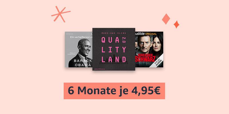 Audible Black Friday Angebot: 6 Monate zum halben Preis für je 4,95€