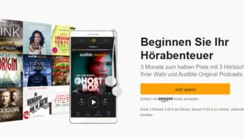 Audible Cyber Monday Angebot: 3 Monate zum halben Preis für nur 4,95€